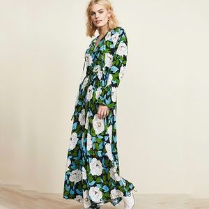 DVF  Bethany Cinch Sleeve Maxi Dress Size XS